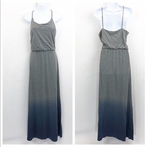 NWT GAP Maxi Dress Gray Blue Ombre